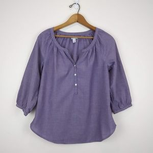 Old Navy Blouse, Purple, V-neck w 3 buttons, SP